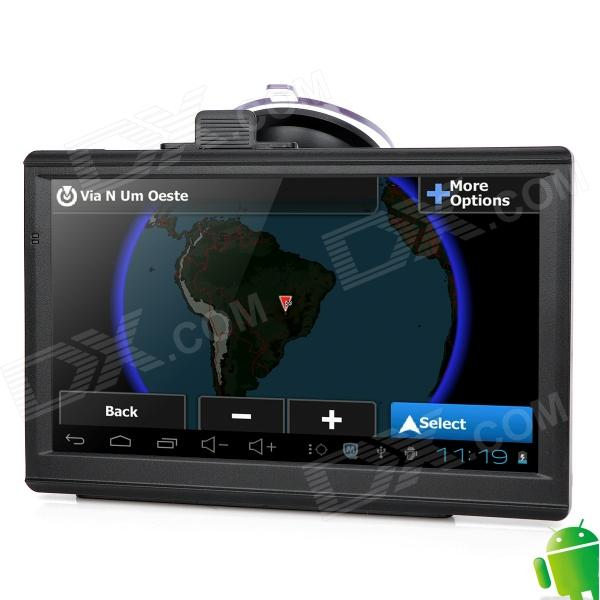 "IPUM7025AV 7"" Resistive Screen Android 4.0 GPS Navigator w/ Europe Map / AV-In - Black Palm Bay поиск б.у"