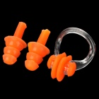 2-in-1 Silicone Swimming Ear Plugs & Nose Clip Set - Orange