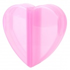 Lovely Heart-shaped Tow Layer Pill Case Organizer Box - Pink (4-Grid)