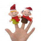 FT603 Christmas Style Plush Finger Puppets Toys - Multicolored (6 PCS / Pack)