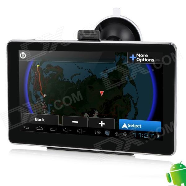 IPUM6026AV 7 Resistive Screen Android 4.0 GPS Navigator w/ Russian Map / AV-In - Black + Silver xm 05 7 0 resistive screen win ce 6 0 gps navigator w europe map tf built in 4gb flash memory