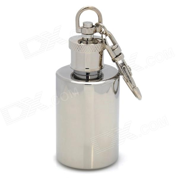 Mini Stainless Steel Wine Pot Key Chain - Silver