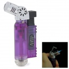593B Jet Torch Style Butane Gas Windproof Lighter - Purple