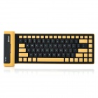 BK86 Mini Flexible Bluetooth V3.0 Wireless Keyboard - Schwarz + Gelb