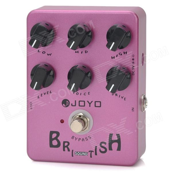 JOYO JF-16 Bypass Design Brithish Sound Guitar Effect Amplifier Simulator Pedal - Purple joyo ja 03 mini guitar amplifier with metal sound effect