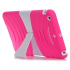 Protective Silicone Anti-drop Game Type Case for Ipad MINI - Deep Pink + White