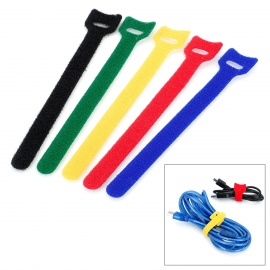 KX-35 Stylish Velcro Nylon Cable Tie Organizer Set - Multicolored