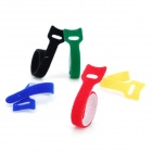 KX-35 Stylish Velcro Nylon Cable Tie Organizer Set - Red + Black + Green + Yellow + Blue