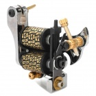 Fashion Design Tattoo Machine Liner Shader Gun - Silver + Black