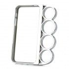 Knuckle Style Protective PC Hard Back Case for iPhone 5 - Silver