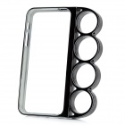 Knuckle Style Protective PC Hard Back Case for iPhone 5 - Black