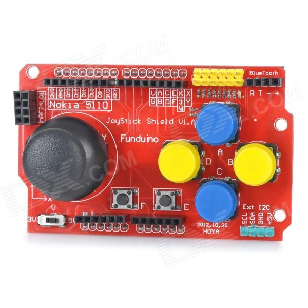 DIY Funduino Joystick Shield V1 Expansion Board - Red
