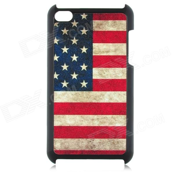 Protective Plastic Stars & Stripes Pattern Case for Ipod Touch 4 - Blue + Red