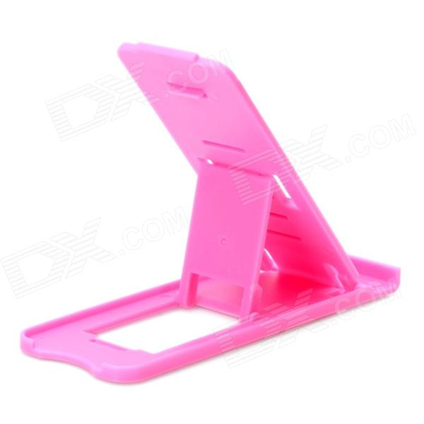 Portable Compact Foldable 5-Level Plastic Stand Holder Support for Iphone / Ipad - Pink
