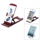 Portable Compact Foldable 5-Level Plastic Stand Holder Support for Iphone / Ipad - Coffee