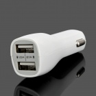 TR-029 Dual USB 2.1A / 1.0A Car Power Charger - White (12~24V)