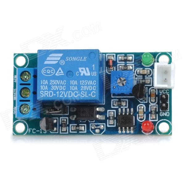 DC 12V Photoresistance Sensor + Relay Module Shield Board w/ Lead Cable - Blue smoke sensor module w relay output green black