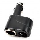 Dual Car Cigarette Sockets Power Adapter - Black (DC 12~24V)