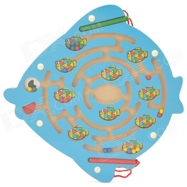 Cute Fish Shaped Coordination Ability Training Magnetic Maze Toy - Blue international policy coordination and national program implementation
