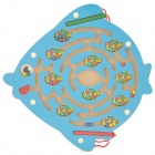 Cute Fish Shaped Coordination Ability Training Magnetic Maze Toy - Blue