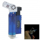 593B Jet Torch Style Butane Gas Windproof Lighter - Blue