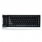BK102 Faltbare Bluetooth V2.0 85-Key Silikon Flexible Keyboard - Black + White