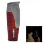 HONEST 3# Butane Gas Stainless Steel Windproof Lighter - Red