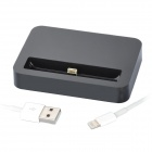 Charging Dock Cradle w/ Charging & Data Transmission Cable for iPhone 5 - Black