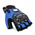 PRO-BIKER MCS-04 Motorcycle Racing Half-Finger Protective Gloves - Blue (Size M / Pair)