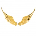 3D Angel Wing Shaped Car Decoration Sticker - Golden (Pair)