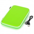 "7"" Tablet Sleeve Case w/ Speaker / Stand / Rechargeable 900mAh Battery - Green"