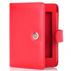 Protective Flip-Open PU Ledertasche für Kindle 5 - Red