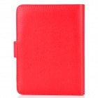 Protective Flip-Open PU Leather Case for Kindle 5 - Red