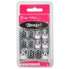 BZ2056 Art Design Panda Pattern Decorative False Nail Tips - Colorful (24 PCS)