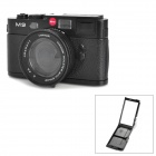 Creative Leica Camera Style Costume Makeup Mirror with Strap - Black