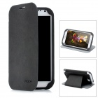 ROCK Texture Style Protective PU Leather Case Stand w/ Card Slot for Samsung Galaxy Note 2 N7100