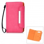KALAIDENG Protective PU Leather Case w/ Card Slots for Nokia Lumia 820 - Deep Pink