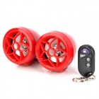 "Dahan Blume Stil Motorcycle Alarm 2,5 ""Media Player Speaker w / TF / FM - Red"