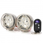 "Flower Style Motorcycle Alarm 2.5"" Media Player Speaker w/ TF / FM - Translucent"