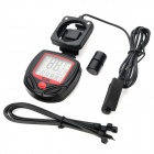 "SD-546AE 1.5"" LCD Electronic Bicycle Computer / Speedometer - Black + Red (1 x AG13)"