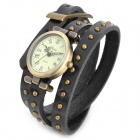 Rivet Studded Leather Quartz Watch