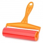 Large Washable Handheld Clothing Lint Duster Roller Remover - Green + Orange + Red