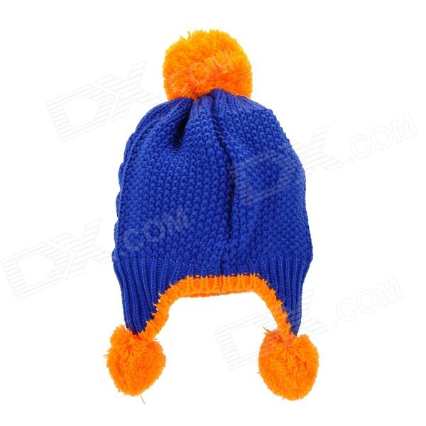 Knitting Pattern Double Layer Hat : Cartoon Bear Pattern Kids Yarn Knitted Double-Layer Cap ...