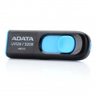 ADATA UV128 Retractable USB 3.0 Flash Drive - Black + Blue (32GB)