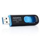 ADATA UV128 Retractable USB 3.0 Flash Drive - musta + sininen (32 gt)