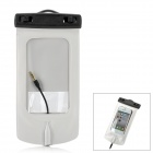 WP-550 Waterproof Dry Bag Case w/ Strap / Hook Style In-Ear Earphones - Black + White