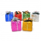 6cm Foam Gift Boxes for Christmas Decoration - Multicolored (6 PCS)