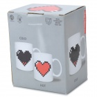 Cor Heart Shaped Alterar Copa Cerâmica - Branco (475ml)
