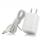 Mini Micro USB 5Pin Emergency Cell Phone Charger - White (AC 110~240V / 2-Flat-Pin Plug)