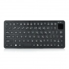 Ultra-Thin Mini Bluetooth v3.0 84-Key Wireless Keyboard - Black